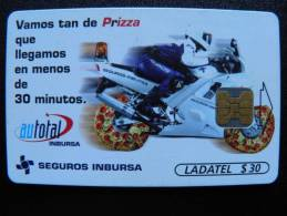 Chip Phone Card From Mexico, Ladatel Telmex, Motorbyke - Mexico