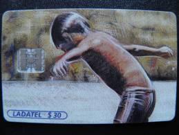 Chip Phone Card From Mexico, Ladatel Telmex, Boys Art Painting - Mexico