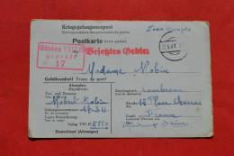 Carte D´un Prisonnier Dans Un Camp STALLAG VIII C Gepruft 17 - 1941 - Guerre 1939-45