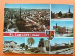 E1-Allemagne-st..ingbert-saar--6 Vues--multivues-eglise-animee- Voitures- Blason-- - Saarpfalz-Kreis