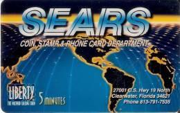 TARJETA DE ESTADOS UNIDOS DE 5 MINUTES DE SEARS - Estados Unidos