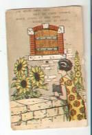 CPA : Carte Fantaisie à Système : J´ai Réuni Pour Vous Tout Un Choix D´époux : Femme Regardant Fenêtre Avec 4 Portraits - 1er Avril - Poisson D'avril