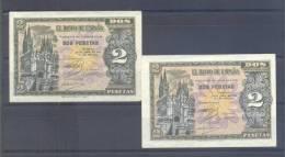 EDIFIL D30A.-   2 PTAS 30 DE ABRIL DE 1938.- - [ 3] 1936-1975 : Régence De Franco