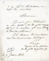 Lettre De M.Ernouf, Député De La Manche 1836 - Documents Historiques