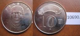 Taiwan , Republica De China 10 Yuan 2011  ( Año 100 ) - Monedas