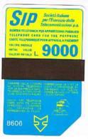 TELECOM ITALIA (PERIODO SIP) - CAT. C.& C.1046 - SIDA 3 - 1986 (8606) LIRE 9000     -  USATA (USED) - Italia