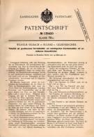 Original Patentschrift - W. Selbach In Bulmke B. Gelsenkirchen , 1902 , Tintenfaß Mit Vorratsbehälter , Tinte !!! - Tintenfässer