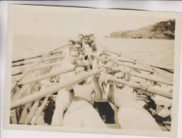 Marina Madeira 1929 Campagna Regia Nave Cristoforo Colombo I Vogatori Fotografia R.Accademia Livorno - Guerra, Militari