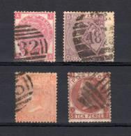 GREAT BRITAIN QUEEN VICTORIA 1865/67 # 28-29-32-36 CAT VAL 700 € (r. 494) - Usati