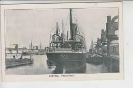 """POMMERN - STETTIN - Freihafen, Frachter M.S. """"VOLO"""" - Hull, Ozeanschiff - Pommern"""