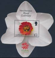 GUERNSEY 2012, 20th Anniversary Of Floral Guernsey Shaped Miniature Sheet** - Guernsey