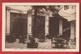Q0924 Valparaiso Astur Hotel, Gran Hall Por Salvador Donoso,Social Parlor.Non Circulé. - Chile