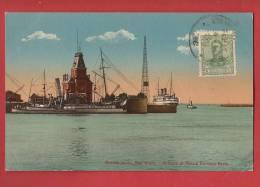 Q0935 Buenos Aires Entrada Puerto Darsena Norte.Affranchissement Frontal 1911 Pour La Suiza - Argentinië