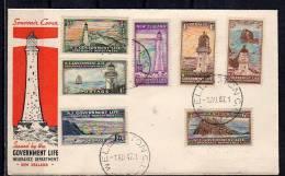 Lighthouse On FDC 1947 SCARCE !!!! (NZ 35) - FDC