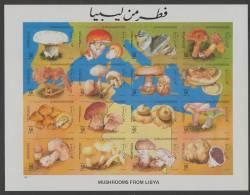 Libya (1985)  Yv. 1557/72 - IMPERF. - NON DENTELE)  /  Mushrooms - Funghi - Champignons - Setas - Pilze - Paddestoelen