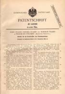 Original Patentschrift - John Fraser In Westburn Foundry , Arbwath , Scotland , 1902 , Antrieb Für Streckmaschine !!! - Tools