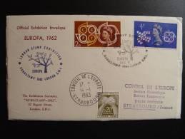 ROYAUME UNI  UK  EXHIBITION EUROSTAMP LONDRES 1963 CONSEIL DE L'EUROPE TIMBRE TAXE TYPE GERBES - 1952-.... (Elizabeth II)