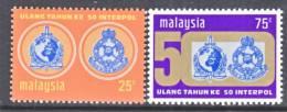 Malaysia  106-7  *  POLICE  INTERPOL - Malaysia (1964-...)