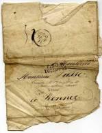 Lettre De 1826 Cachet P30 P Toulouse De Toulouse à Destination De Rennes  Pour Trompette     Let2 - Marcophilie (Lettres)