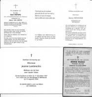 Doodsprentjes Melsbroek 4 Stuks - Lot 2 - Religion & Esotericism