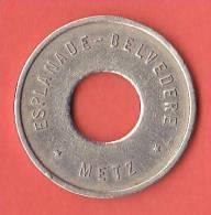 JETON DE PARKING  ESPLANADE - BELVEDERE  *  METZ  * - Firma's