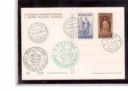 TEM6569    -   XII  GIORNATA FILATELICA TRENTINA   /      TRENTO  27.5.1961 - Esposizioni Filateliche