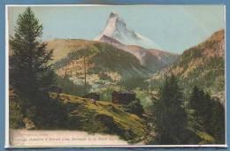 SUISSE --  ZERMATT -- Paysage Alpestre à Zmutt - VS Valais