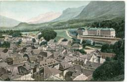 CPSM 38 SAINT LAURENT DU PONT LA VILLE ET L HOPITAL - Saint-Laurent-du-Pont
