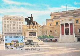 Carte-Maximum GRECE N°Yvert 1453 / Athènes, Statue De Kolokotroni - Cartoline Maximum