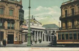 Montevideo Teatro Solis Tram Tranvia  No 71 Voilier 3 Mats Marie Molinos Newcastle Australia - Uruguay