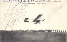 BIPLAN FARMAN -BRON-EN PLEIN VOL - Flugzeuge
