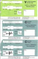 3 Boarding Pass - 3 Cartes D´embarquement - Milano Linate (Italy) - Instapkaart