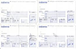 8 Boarding Pass - 8 Cartes D´embarquement - Sabena - Instapkaart