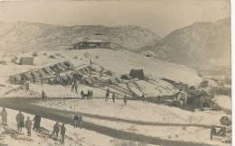 Real Photo WWI Guerre 1914 Demir Kapou  French 260 Eme Tents In The Snow Nov. 28 1915 - Macédoine