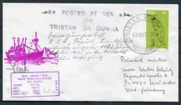 1976 Tristan Da Cunha South Africa Signed Ship Paquebot Navire Cover - Tristan Da Cunha