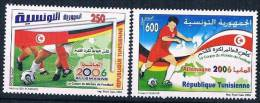 Soccer Fussball Football Tunisia #1654/5  2006 World Cup In Germany  MNH ** - 2006 – Allemagne