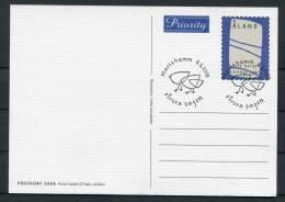 2008 Aland Priority Stationery Postcards FDI X 2 - Aland