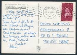 1976 Iceland Reykjavik Machine Cancel Myvatn Postcard - Islande