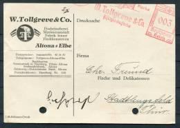 1938 Germany Hamburg Fish Merchant Freistempel Advertising Postcard - Fishes