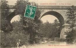 deux sevres -ref A135- argenton chateau - le pont de ciron  -carte bon etat  -
