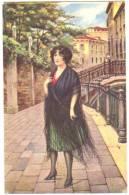Style Mauzan Illustrateur Femme Venise Publicité Gilmo Foa 1920 état Superbe - Mauzan, L.A.