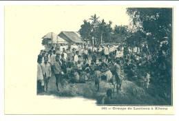 Indochine  LAOS Groupe De Laotiens à Khong.  Colonies Françaises - Laos