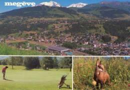 CPM:  MEGEVE (74): Vue Générale Et Le Mont Blanc-Golf Au Mont-d'arbois(N°V1326).     (7693) - Megève