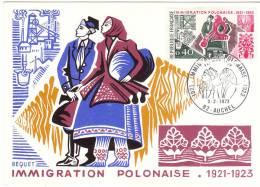 FRANCIA 1973 MAXIMUM IMMIGRATION POLONAISE - Cartoline Maximum