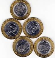5 PESOS REPUBLICA DOMINICANA 2002 COIN - Dominicaine