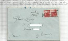 Lettera Spedita Da Genova Il 31-5-47 Per Moltrasio (Como) - 1946-.. République