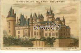 CHROMO - CHOCOLAT GUERIN-BOUTRON - N° 35 - CHATEAU D'USSE (Indre Et Loire ) - Guérin-Boutron