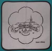 FROMAGE SAINT ALBRAY - CARRE PUBLICITAIRE  TISSU - 31 Cm / Côté - Reclameservetten