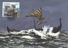 SUEDE Carte Maximum Num.yvert  1577 LES VIKINGS - Maximumkarten (MC)
