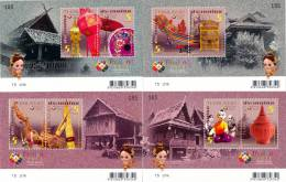 THAILAND - 2012 - Mi BL. 286-BL. 289 - WORLD STAMP EXHIBITION 2013 - 1. SERIES - 4 X S/S - MNH ** - Tailandia